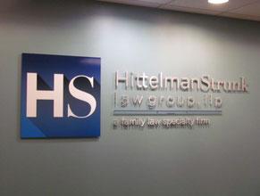Hittelman 3D Lobby Wall Office Sign