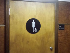 Queen Mary Restroom Sign