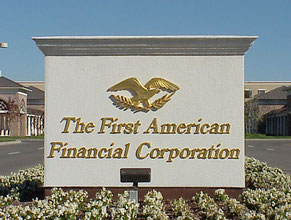 First American Monument Gold Leaf Sign