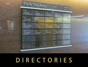 Directory Office Signs