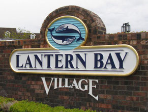 Lantern Bay Wood Gold Leaf Sign