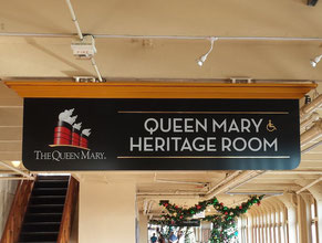 Queen Mary Directional Sign 3