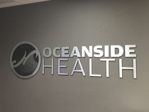 Oceanside Health Lobby Display