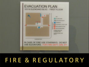 Fire & Regulatory Office Signs