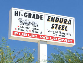 High Grade Pole Sign