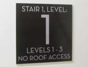 PDA Stair Office Sign