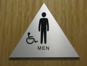 Brushed Restroom Sign