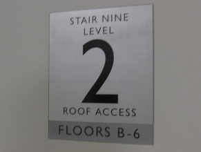 San Pedro Stair Office Sign