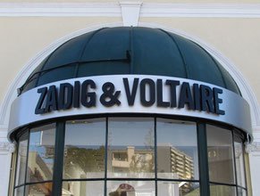 Zadig & Voltaire Dimensional Building Sign
