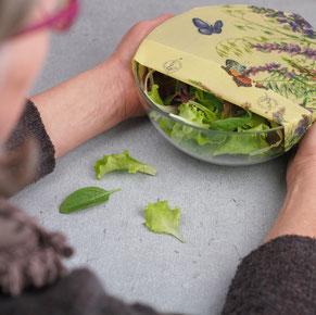 Bienenwachstuch Lebensmittel plastikfrei frischhalten