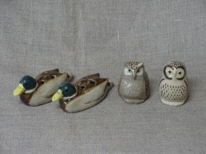 鳥の雑貨 カモ オカリナ 梟の雑貨 フクロウ