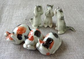 猫の雑貨 三猿