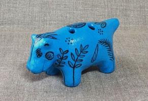 青いカバ blue hippo