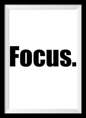 Typografie Poster, Typografie Print, Motivation, Focus
