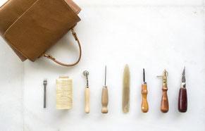 Schuhmacherei Handwerkszeug für Lederarbeiten