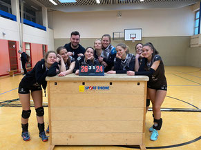 Damen-2: Pokalsieg gegen Verberg geschafft; jetzt schnell noch mal ins Bett ...