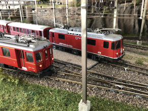 Fahrleitungsbau Anlage Schweiz Bornaer Modellbahnverein e.V.