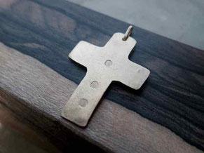 十字クロス 真鍮ネックレスチャーム