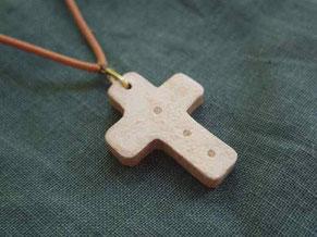 京都手づくり市 |陶製陶器ペンダントネックレス十字クロス