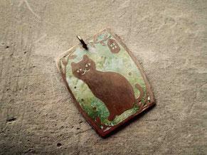 猫さんペンダント©マーガレットレーベル 京都手づくり市、岐阜手づくり市にて販売します。