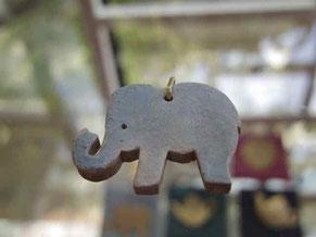 京都手づくり市 |陶製陶器ペンダントネックレス象さん