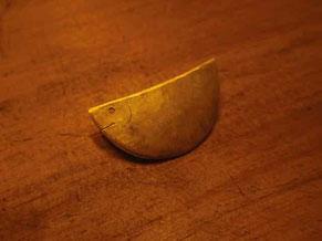 真鍮 おさかなブローチ©マーガレットレーベル 京都手づくり市 岐阜手づくり市にて販売します。