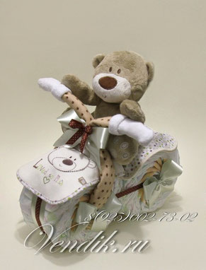 "Мотоцикл из памперсов ""Мишка""©"