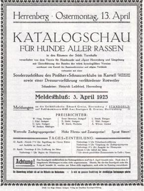 Einladung zur großen Ausstellung 1925