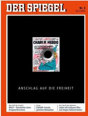 """""""Spiegel"""" Titelbild nach dem Attentat vom 7. 1. 2014"""