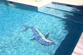 Pool von Casa Monica mit flachem Eingang für Kids