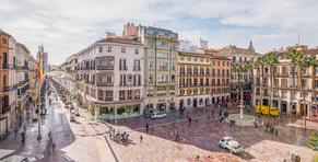 Plaza de la Constitución en Malaga -  fotografía de Jaime D. Triviño - Fotógrafo de arquitectura e Interiorismo