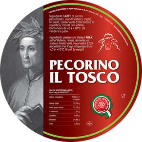 maremma sheep sheep's cheese dairy pecorino caseificio tuscany tuscan spadi follonica label italian origin milk italy matured aged il tosco