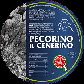 pecorino maremma new taste sheep sheep's cheese dairy caseificio tuscany tuscan spadi follonica label italian origin milk italy matured aged flavored flavor al cenerino cinder ash refined refine