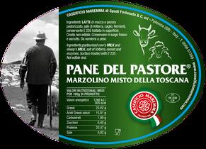 maremma mixed mix cow cow's sheep sheep's cheese dairy caseificio tuscany tuscan spadi follonica label italian origin milk italy fresh  pane del pastore marzolino misto della toscana