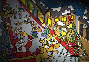 Van Bun Communicatie & Vormgeving - Internetgazet Lommel - Illustraties - Tekeningen - Grafisch ontwerp - Publiciteit - Reclame - Kerstmarkt in Lommel