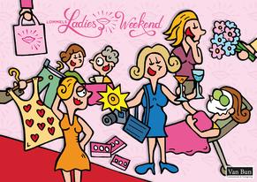 Van Bun Communicatie & Vormgeving - Internetgazet Lommel - Illustraties - Tekeningen - Grafisch ontwerp - Publiciteit - Reclame - Ladies Weekend Bruisend Lommel