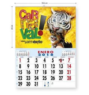 Calendario sobremesa de 7 hojas (Motivos surtidos)