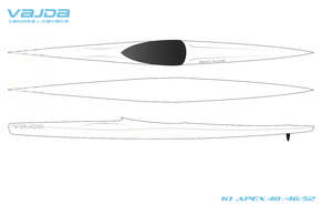 VAJDA K1 ApeX 40_46_52, Designvorlage Kajak Nor
