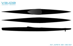 VAJDA K1 ApeX 40_46_52 ClearCarbon, Designvorlage Kajak Nord