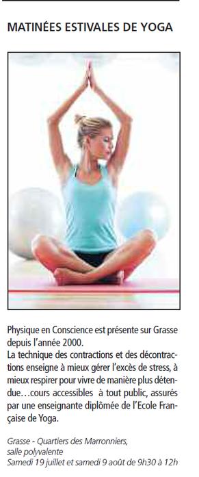 Matinées Estivales de Yoga, Cliquez pour agrandir