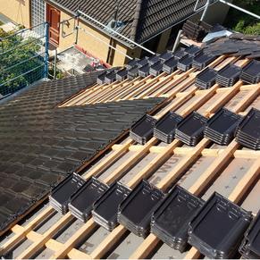 Dachsanierung  Dachrinnenreinigung  Reparatur von Sturmschäden