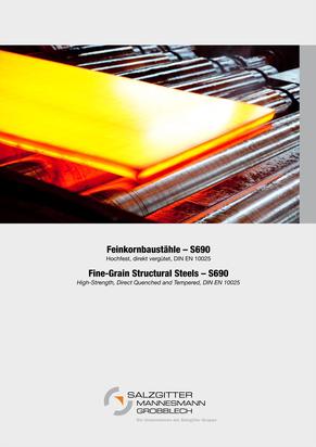 Produktblätter der Salzgitter Mannesmann Grobbleche
