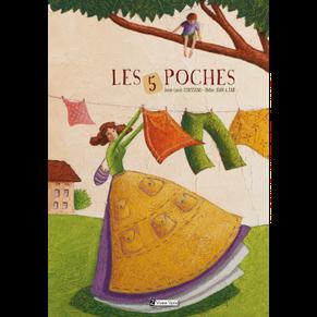 Couverture de l'album jeunesse Les 5 poches paru chez Utopique Éditions sur le BLOG : la Bulle Ludique Originale Gratuite