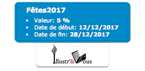 Bon de réduction de 5euros code Fêtes2017 sur la boutique Illustr'&Vous de Cloé Perrotin