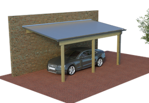 Multi-Pultdach-Carport