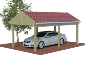 Multi Satteldach Carport