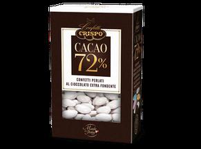 Eleganti confetti di cioccolato extra fondente al 72%, ricoperti da un sottile guscio di zucchero colorato dall'effetto perlescente Ideale Per Bomboniere, Sacchetti, Confettata Da Cerimonia.La Confezione Contiene Circa 75/80 Confetti €6,50