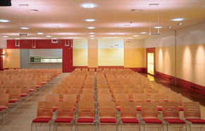 Der moderne Veranstaltungssaal, 2004 gestaltet