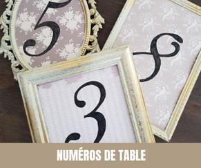 Numéros de table Hésione Design