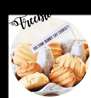 Bild: DIY Dekoration für Ostern basteln - mit diesem Freebie Vorlage schöne Kuchentopper, Cake Topper und Brunch Deko selber machen, gefunden auf www.partystories.de